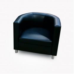 """Кожаное кресло для офиса и дома """"Полукруг"""""""