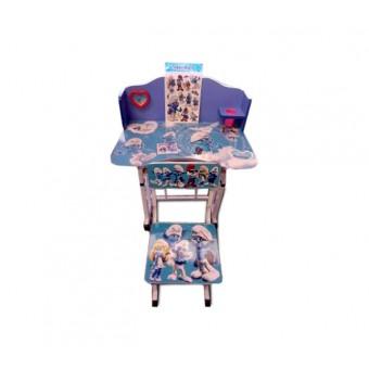 """Детский столик со стулом """"Смурфики"""""""