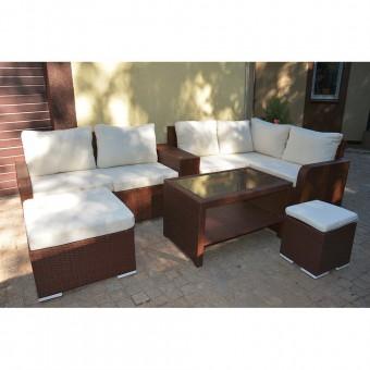 Набор мебели 01 из ротанга (коричневый)