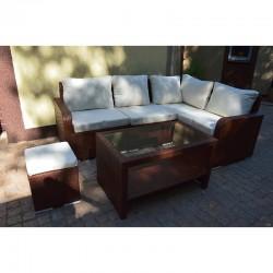 Набор мебели 02 из ротанга (коричневый)