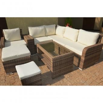 Набор мебели 05 из ротанга (серо-бежевый)