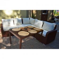 Набор мебели 04 из ротанга (коричневый)