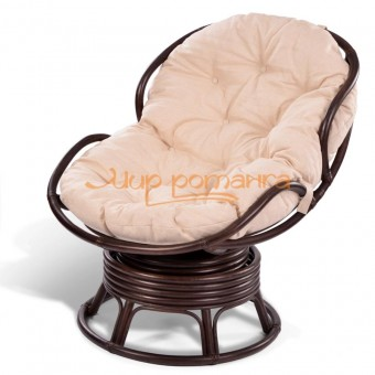Кресло из ротанга «PAPASAN mini» 23/03B вращающееся