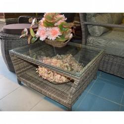 Столик Карибы из искусственного ротанга (бежевый)