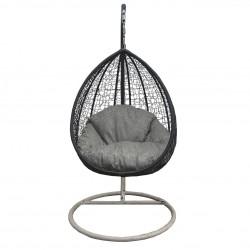 """Кресло подвесное """"Кокон"""" из ротанга (беж, венге)"""