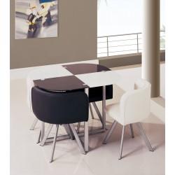 Стол со стульями DT 536 Круглый (беж)
