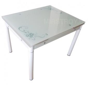 Стол кухонный стеклянный 6069В Бежевый