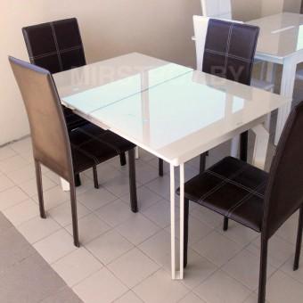 Стол кухонный стеклянный AD 33-1  Бежевый