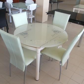 Стол кухонный стеклянный 6069-2 Бежевый