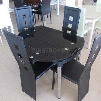 Стол кухонный стеклянный 6069-2 Черный