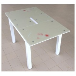 Стол кухонный стеклянный BM115 с узором