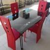 Стол кухонный стеклянный AD 33-1  Черный