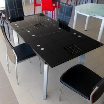 Стол кухонный стеклянный AD 32-1 Черный
