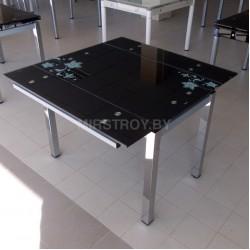 Стол кухонный стеклянный D02-2 Черный