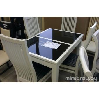 Стол обеденный Жасмин 950х680 со стеклом