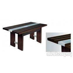 Стол обеденный Агава со стеклом