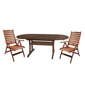 Стол PARIS и 8 стульев BORDEAUX, Garden4you 06254, 07090