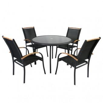 Стол EDMONTON и 4 стула, Garden4you 12794, 0404/2