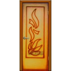 Дверь межкомнатная МДФ тонированная №77