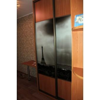 Шкаф со столом и полками (фото-принт) № 017