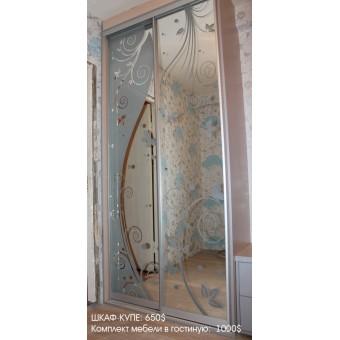Шкаф-купе в гостиную на заказ в Минске № 019