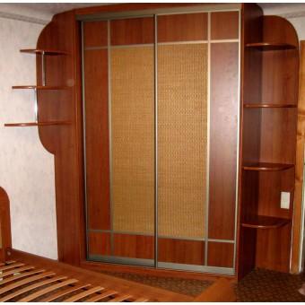 Шкаф декорированный ротангом на заказ № 037