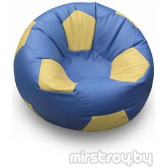 """Бескаркасное кресло Мяч """"Синий с жёлтым"""""""